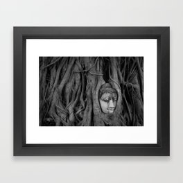Head at Wat Mahathat Framed Art Print