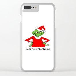 Grinchmas Clear iPhone Case