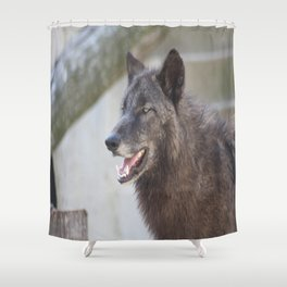 This is my Tuesday face Shower Curtain