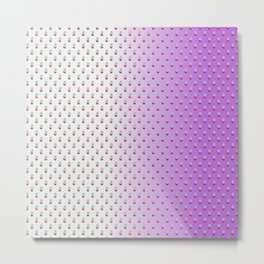 Red Blue Dots with White Purple Ombre Metal Print