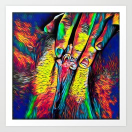 4246s-RES Abstract Pop Color Erotic Explicit Clitteral Psychedelic Yoni Self Love Art Print