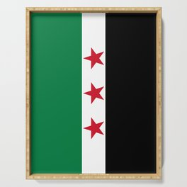 Syrian Independence Flag of Syria Serving Tray