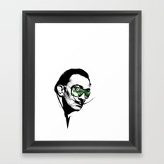 Dalì, what are you watching? Framed Art Print