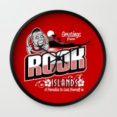 Greetings from Rook Islands Wall Clock
