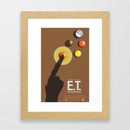 E.T. Movie Poster Framed Art Print