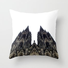 cologne cathedral. Throw Pillow