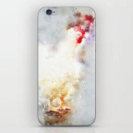 Single white chicken iPhone Skin