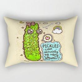 Kawaii Pickles! Rectangular Pillow