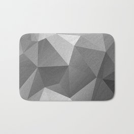 Grey polygonal geometric pattern . Bath Mat
