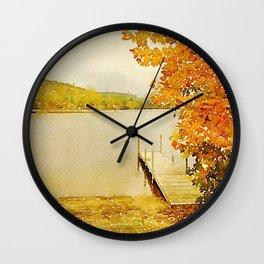 Crystal Lake, Maine Wall Clock
