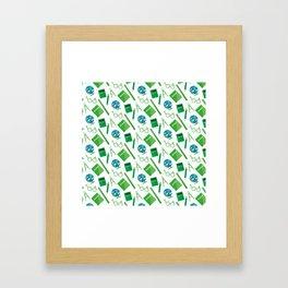 Colorful school pattern Framed Art Print
