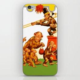 Retro Circus Poster - Monkeys iPhone Skin
