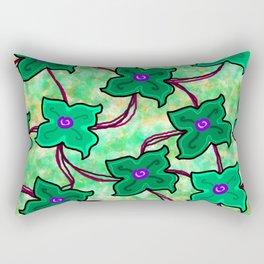 Fresh Floral: Green Rectangular Pillow