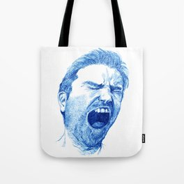 Man yawning or screaming? Tote Bag