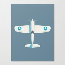 F4U Corsair Fighter Aircraft - Slate Canvas Print
