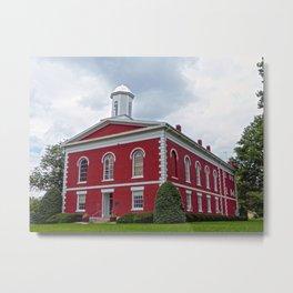 Iron County Courthouse in Ironton, Missouri Metal Print