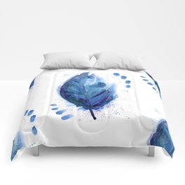 Blue Feather Comforters