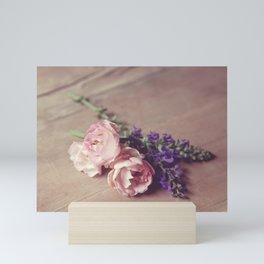 Farmhouse Pink Roses Mini Art Print