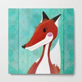 Foxie the Fox Metal Print