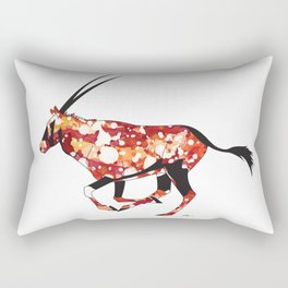 Red Sun Oryx Rectangular Pillow