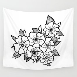Inked flowers Wall Tapestry