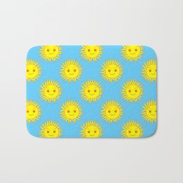 Smile Sun Face Pattern Bath Mat