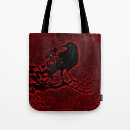 The Red Raven Tote Bag