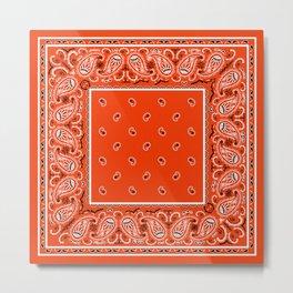 Classic Orange Bandana Metal Print