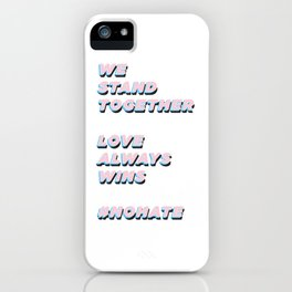 #nohate iPhone Case