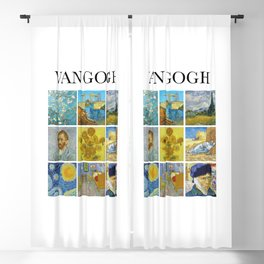 Van Gogh - Collage Blackout Curtain