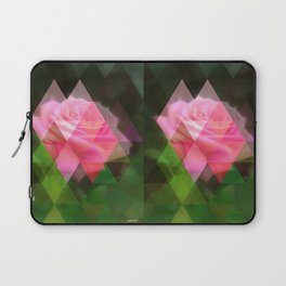 Pink Roses in Anzures 3 Art Triangles 1 Laptop Sleeve