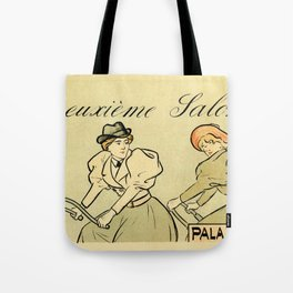 1894 Paris Second Expo of the bicycle horizontal banner Tote Bag