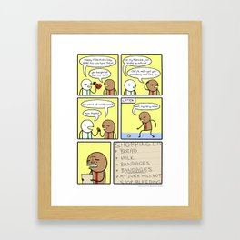 Antics #149 - hurts so good Framed Art Print