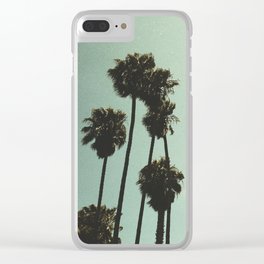 Space and the palms Clear iPhone Case