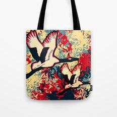 Two Cranes Tote Bag