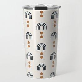 aria - geometric rainbows on cream Travel Mug