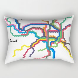 Zurich Metro Map Rectangular Pillow