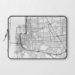Baton Rouge Map, USA - Black and White Laptop Sleeve
