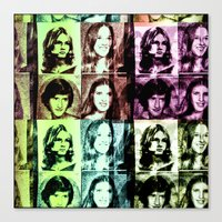 70s Canvas Prints featuring 70s by Geni