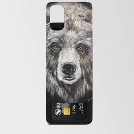 Grizzly bear, green Android Card Case