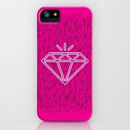 diamond magenta iPhone Case