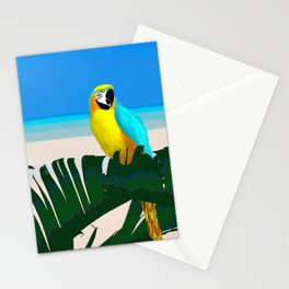 Parrot Tropical Banana Leaves Design Stationery Cards