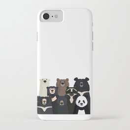 Bear family portrait iPhone Case