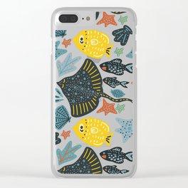 Sea Pattern #3 Clear iPhone Case