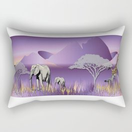 Elephantland No. 2 Rectangular Pillow