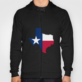 Texas Map Outline and Flag Hoody