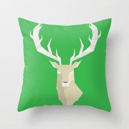 Geometric Stag Throw Pillow