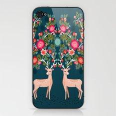 Deer with Flowers by Andrea Lauren  iPhone & iPod Skin