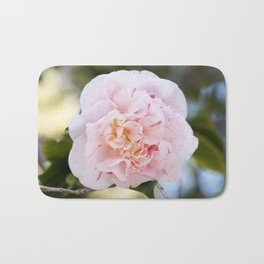Strawberry Blonde Camellia in Bloom Bath Mat