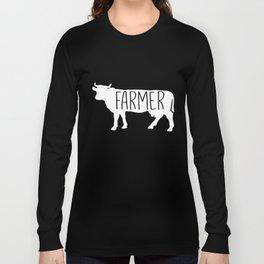 Farmer Cow Cow Lover Rancher  Farm Long Sleeve T-shirt
